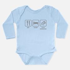 Eat Sleep Slay Dragons Long Sleeve Infant Bodysuit