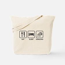 Eat Sleep Dragons Tote Bag