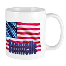 Dannielle Personalized USA Flag Coffee Mug