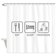 Eat Sleep Triathlon Shower Curtain
