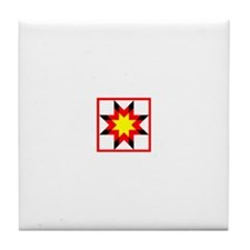 Star Quilt Network Logo Tile Coaster