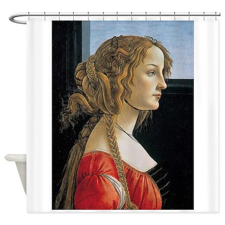 Portrait of Simonetta Vespucci Shower Curtain