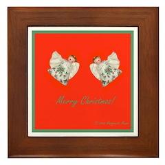 Little Holly Angel Duo Framed Tile