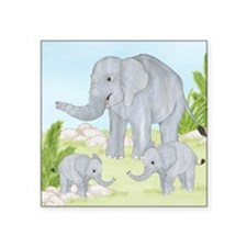 Elephant Square Sticker 3