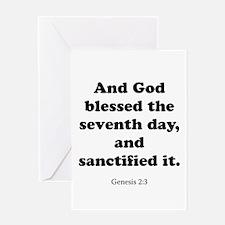 Genesis 2:3 Greeting Card