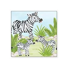 Zebra Square Sticker 3