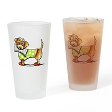 WH Dachshund Apple Drinking Glass