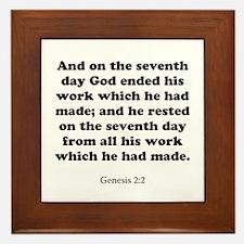 Genesis 2:2 Framed Tile