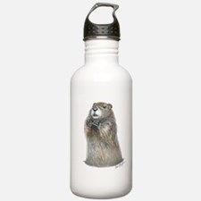 emerging groundhog Water Bottle