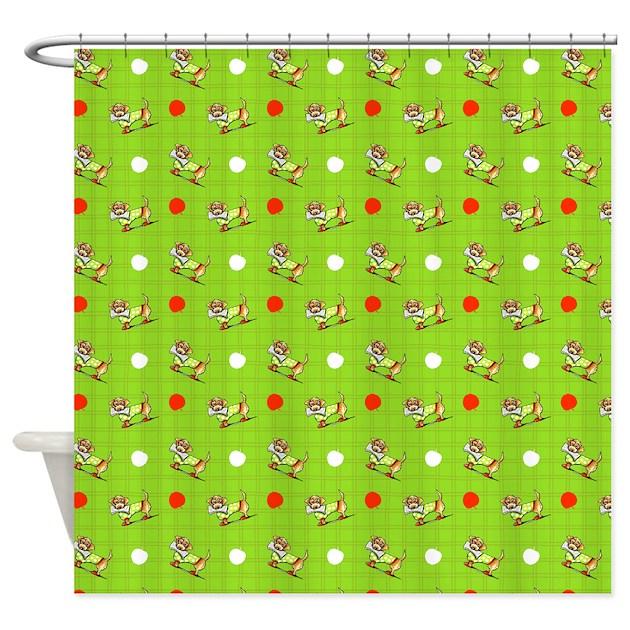Dachshunds N Apples Shower Curtain By Ahamiltonart