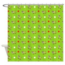 Dachshunds n Apples Shower Curtain