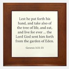 Genesis 3:22-23 Framed Tile