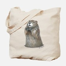 Emerging Groundhog Tote Bag