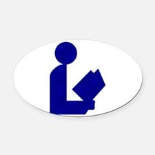 alabw2abluetinfoil.png Oval Car Magnet