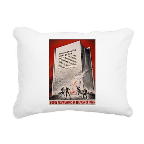 booksweapons.png Rectangular Canvas Pillow