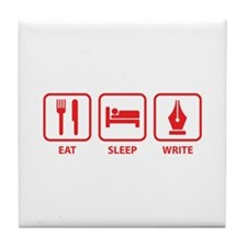 Eat Sleep Write Tile Coaster
