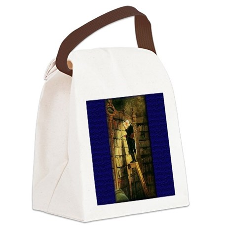 bookworm.jpg Canvas Lunch Bag