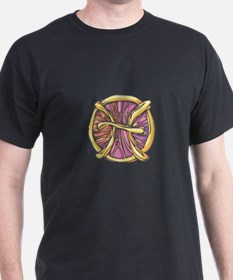 Cool Gemini Symbol Black T-Shirt