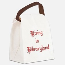 libraryland2.png Canvas Lunch Bag
