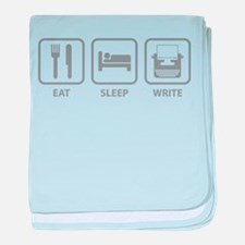 Eat Sleep Write baby blanket