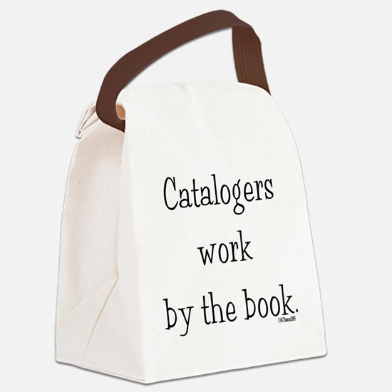 catalogers-book.jpg Canvas Lunch Bag