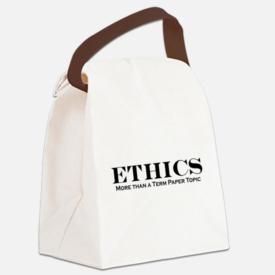 ethics.jpg Canvas Lunch Bag