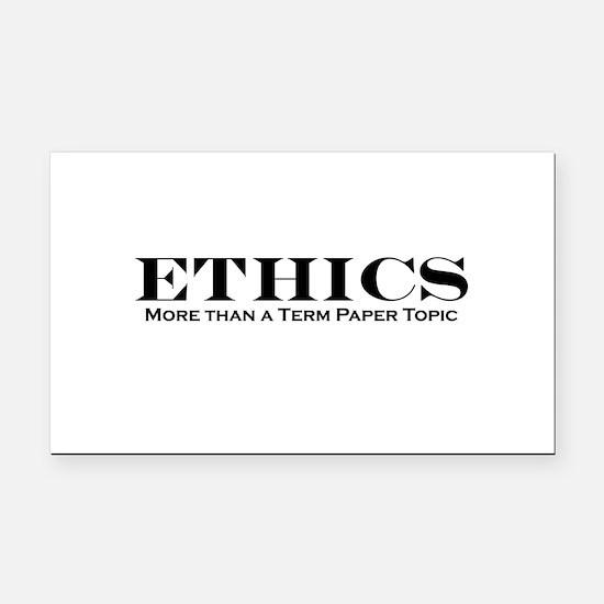 ethics.jpg Rectangle Car Magnet