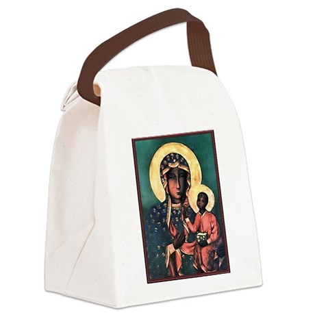 Blackmadonna.png Canvas Lunch Bag