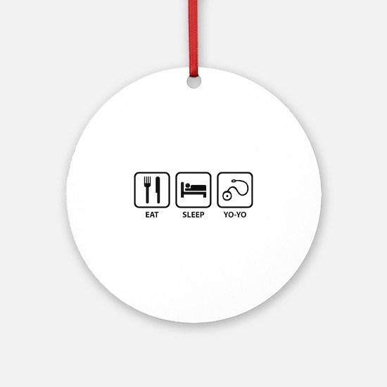 Eat Sleep Yo-Yo Ornament (Round)