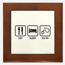 Eat Sleep Yo-Yo Framed Tile