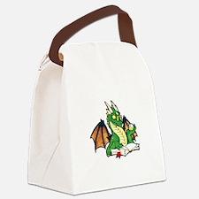 Green Bookdragon Canvas Lunch Bag