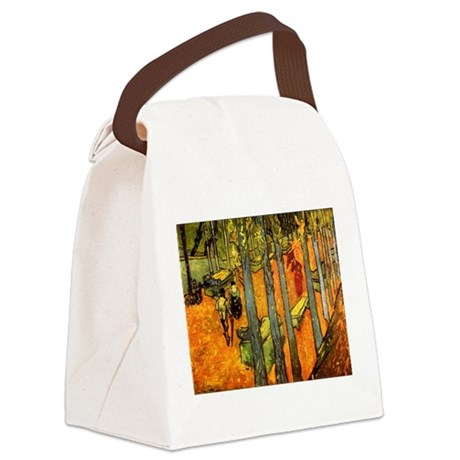 Alyscamps_van_gogh.png Canvas Lunch Bag