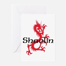 Shaolin Red Dragon Tee Greeting Cards (Pk of 10)
