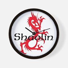Shaolin Red Dragon Tee Wall Clock
