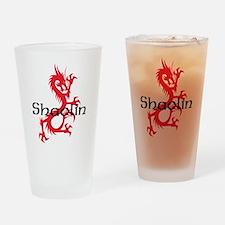 Shaolin Red Dragon Tee Drinking Glass