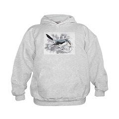 Great Cinereous Shrike Bird Hoodie