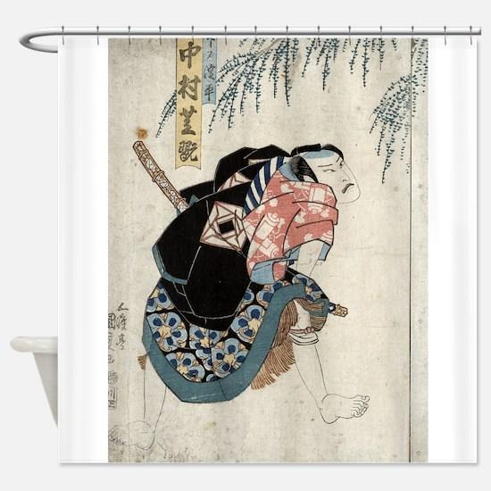 Nakamura Shikan - Toyokuni Utagawa - 1830 Shower C
