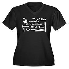 Most Tools Women's Plus Size V-Neck Dark T-Shirt