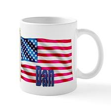 Dan Personalized USA Flag Mug