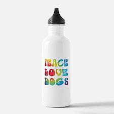 Peace Love Dogs Tiedye Water Bottle
