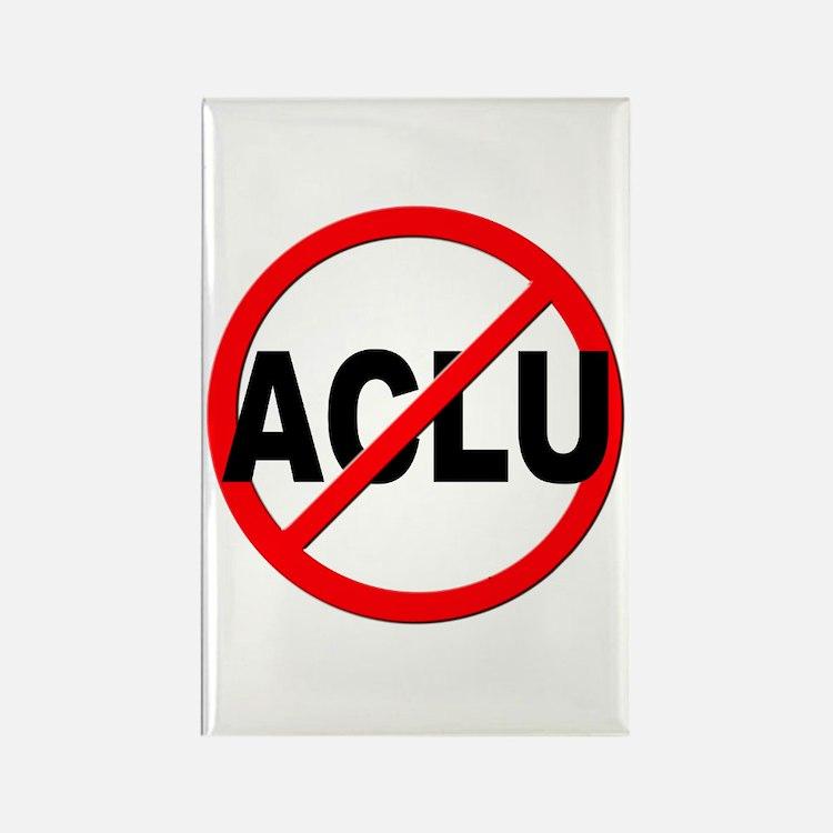 Anti / No ACLU Rectangle Magnet