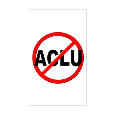 Anti / No ACLU Sticker (Rectangle)