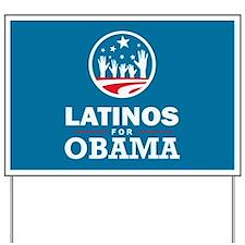 Latinos for Obama Yard Sign