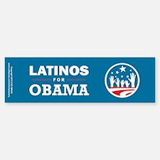 Latinos for Obama Bumper Bumper Sticker