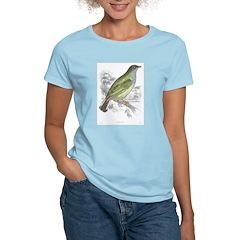 Honey Guide Bird (Front) Women's Pink T-Shirt