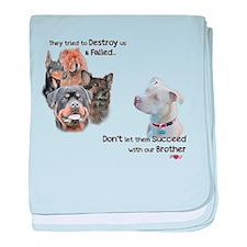 Save the Pitbull baby blanket