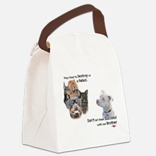 Save the Pitbull Canvas Lunch Bag