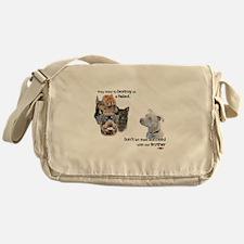 Save the Pitbull Messenger Bag