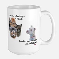 Save the Pitbull Large Mug