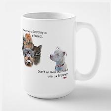 Save the Pitbull Large Mug